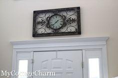 My Cottage Charm: How to Add Molding to Your Doors- Door Header Tutorial