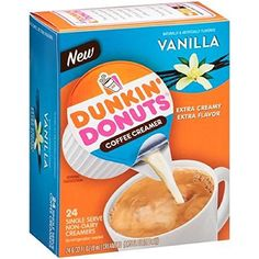 Dunkin Donuts, Single Serve Non-Dairy Creamers, Vanilla, 24 Count, 6.75oz Box (Pack of 2) * Details can be found at http://www.amazon.com/gp/product/B015LO7J9Y/?tag=lizloveshoes-20&pef=290716033838