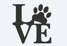 LOVE Paw decal von ChiDesignsCo auf Etsy