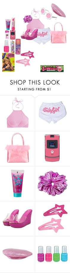 """""""the colour pink in early 2000s"""" by animekpopdiva ❤ liked on Polyvore featuring J.Crew, Motorola, Bonne Bell, McGuire and Gucci"""
