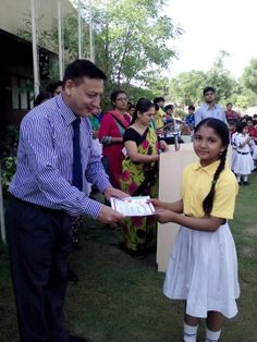 Winners of Hindi Akhilbhartiya Olympiad were awarded with medals and certificates during the Assembly by our honorable Principal Mr. Hitesh Puri