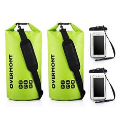 Overmont 2pics de 20L Bolsa impermeable 500D PVC para gimnasio playa  natación camping senderismo surf piscina 1a42baea060