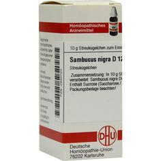 SAMBUCUS NIGRA D 12 Globuli:   Packungsinhalt: 10 g Globuli PZN: 02930720 Hersteller: DHU-Arzneimittel GmbH & Co. KG Preis: 5,19 EUR…