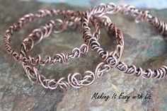 In this video I show you how to make a funky, awesome wire bangle. I use a bracelet mandrel but you could use your imagination and improvise. This is very ea...