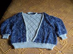 Blusa de lã e linha