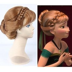 Anangel® Free Hair Cap+ for Adults for Kids Princess Frozen Snow Queen Brown Anna Wig Updo Wigs Snow Queen Cosplay Convention Costume Wigs Anangel http://www.amazon.com/dp/B00MM5S9M2/ref=cm_sw_r_pi_dp_mdwoub10AXB48