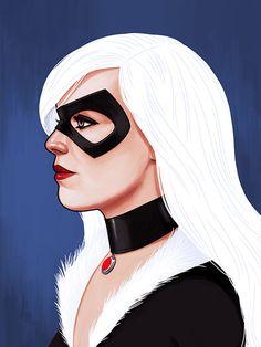 Os quadrinhos e a arte - retratos dos heróis da Marvel de perfil :-D - Blue Bus