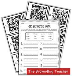 FREE /ar/ QR Code Hunt - The Brown Bag Teacher