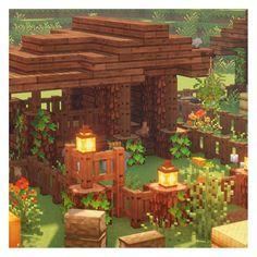 Blocky Bonsai - Mine Minecraft World Minecraft Cottage, Cute Minecraft Houses, Minecraft Farm, Minecraft Plans, Amazing Minecraft, Minecraft House Designs, Minecraft Construction, Minecraft Houses Blueprints, Minecraft Tutorial