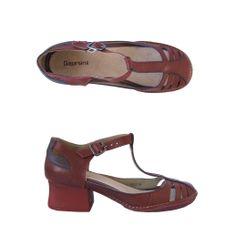 Sandália Novara vermelho/cassis Comparsaria