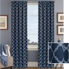 Better Homes and Gardens Trellis Room Darkening Curtain Panel - Walmart.com