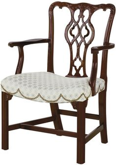 Baker Knapp & Tubbs Historic Charleston Collection Chippendale Arm Chair