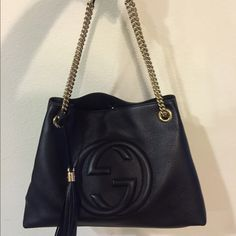 Gucci Black Soho Shoulder Bag Worn once and bought a week ago! Beautiful bag! Gucci Bags Shoulder Bags