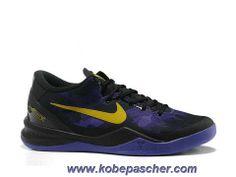 official photos 89bef e199e Pas Cher Pourpre Jaune Lakers Nike Zoom Kobe VIII Kobe 8 Shoes, Kd Shoes,
