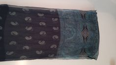 Echo Navy and Turquoise Paisley Silk Scarf by NotYourMamasGems
