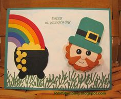 St Patrick's Day, Leprechan, pot of gold, Stampin' Up