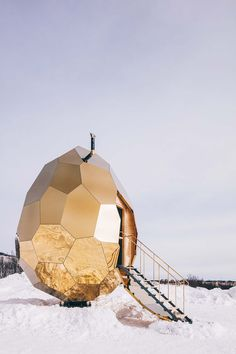 This Egg-Shaped Sauna is the Warmest Winter Adventure Yet