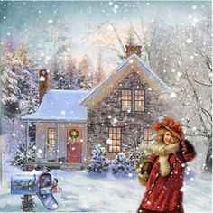 """Homeward Bound"" by jennytee- wouldn't it be nice to have an ""old fashioned Christmas""? One that is remembered for seeing old friends and visiting instead of what gift do I get Aunt Marge? I would really love that! Sharing a mug of hot cider.."