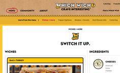 which wich sandwich shop navigation menu