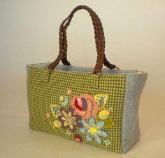 Wool Applique Tote Bag