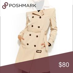 💋Final Price💋Calvin Klein Classic Trench Classic trench  Water resistant Fully lined 38' long (shoulder to hem) 19' pit to pit  25' sleeves   No trades No holds No low balls  I've worn this a handful of times - it's just too big. It's perfect for fall/winter and winter/spring and with the water resistant it's a fancier raincoat Calvin Klein Jackets & Coats Trench Coats