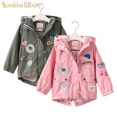 >> Click to Buy << 2-8Y Winter Fashion Girls Embroidered Jacket Flower Patch Cartoon Children's Coats & Jackets Lamb Velvet Kids Padded Jacket Warm #Affiliate