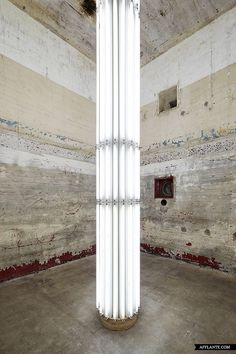 Sammlung (Collection) Boros - Bunker, Berlin / The Seen Neon Lighting, Interior Lighting, Lighting Design, Boros Bunker, Light Art, Lamp Light, Art Totem, Neon Rosa, Column Lights