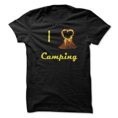 The Fireheart Camping TeeDo you love camping?  then get the Fireheart Camping Tee today.Camping Fire Heart Bonfire