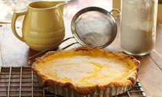 Lemon Curd Tart with Sour Cream Pastry - Maggie Beer, a Barossa Food Tradition Lemon Curd Tart, Lemon Curd Filling, Lemon Tarts, Pastry Recipes, Baking Recipes, Dessert Recipes, Dessert Tarts, Lemon Desserts, Dessert Ideas