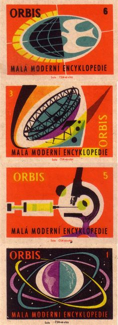 Czech matchbox labels 1961   Orbis: compact modern encyclopedia