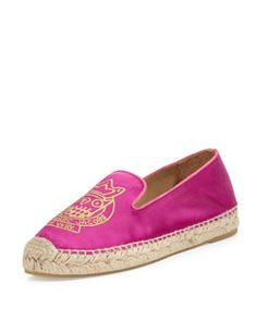 X1WE0 MARC by Marc Jacobs Owl Satin Espadrille Flat, Hot Pink