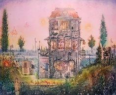 Gross Arnold - Ház / House Teaching Drawing, Etching Prints, Fairy Land, Islamic Art, Watercolor Illustration, Rainbow Colors, Folk Art, Sculptures, Artsy