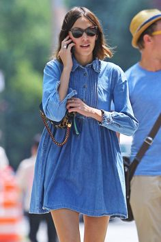 Alexa Chung x Denim Dress