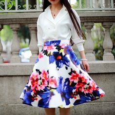 Spring arrival! #chicwish #chic #midiskirt #fioral #spring