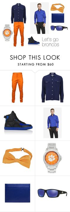 """Men's outfit for super bowl broncos party"" by babygirlswagger624 on Polyvore featuring Humör, Gant Rugger, Rip-Off's, Express, Forzieri, Jack Mason, Mulberry, Costa, mens and men"