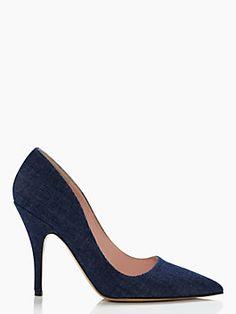 licorice heels, blue jean
