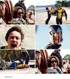 X-men days of future past deleted scene -friendly fire – X-Men - Marvel Comics Marvel Dc, Marvel Comics, Captain Marvel, Charles Xavier, Days Of Future Past, Johnlock, Destiel, Caleb, Nerd
