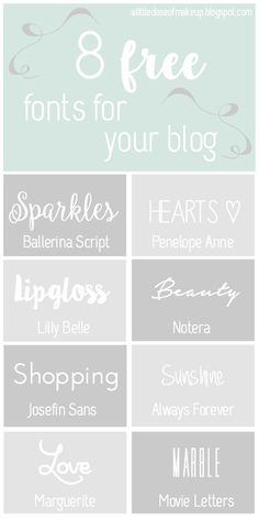 A Little Dose of Makeup: A Little Dose of Blogging | Free Fonts