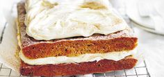 Spoil Dad this Father's Day with this delicious carrot cake slab, topped with our fluffy cream cheese frosting.