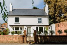4 bedroom detached house for sale in Upper Grotto Road, Twickenham Bungalow Exterior, Cottage Exterior, Dream House Exterior, Modern Exterior, Exterior Design, Front Door Paint Colors, Painted Front Doors, Barn Conversion Interiors, Beautiful Modern Homes
