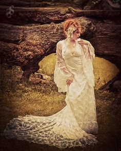 Ophelia Lace Medieval Fantasy Romantic Gown by RomanticThreads, $795.00