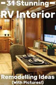 31 Stunning RV Interior Remodelling Ideas (With Pictures!) – Vehicle HQ 31 Stunning RV Interior Remodelling Ideas (With Pictures! Rv Remodel, Remodel, Rv Decor, Built In Furniture, Interior Remodel, Interior, Interior Color Schemes, Rv Interior Remodel, Renovations
