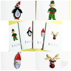 Looking for unique Christmas cards? I have these quilled Christmas cards multipack available. Only 1 pack available! #Christmas #etsy #ooak #unique #handmade #quilling #papercraft