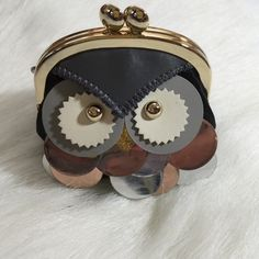Kate Spade Owl Coin Purse Kate Spade wise owl coin purse. Leather with other materials. Clasp closure. Black multi color. Price firm. kate spade Accessories Key & Card Holders