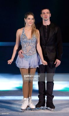 Actress Clara Alonso and her skating partner Marco Garavaglia attend 'Notti Sul Ghiaccio' (Stars On Ice) TV Show at RAI Studios on February 21, 2015 in Rome, Italy.
