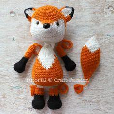 Free crochet pattern of Mr. Furu, orange fox amigurumi who loves to wear a pair of wired glasses. It's tall, crochet from hook in colorwork. Crochet Fox Pattern Free, Crochet Amigurumi Free Patterns, Crochet Dolls, Cute Crochet, Creation Couture, Crochet Projects, Creations, Crafts, Stuffed Fox