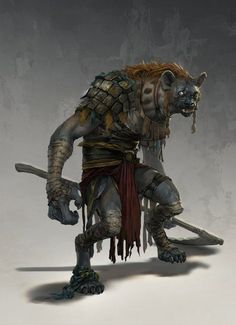 "Gnolls are the literary descendants of Lord Dunsany's ""gnoles"", who were clever, evil and nonhuman. Gary Gygax writes in the earliest edition of Dungeons & Dragons (1974): ""A cross between gnomes and trolls (...perhaps, Lord Dunsany did not really make it all that clear) with +2 morale. Otherwise they are similar to hobgoblins..."""