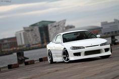 Nissan Silvia by Reinis Babrovskis, via . I will always love this car. Nissan S15, Nissan 240sx, Tuner Cars, Jdm Cars, R34 Gtr, Classic Japanese Cars, Nissan Silvia, Drifting Cars, Import Cars