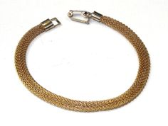 Vintage Sarah Coventry GOLD MESH Bracelet by SellitAgainVintage, $13.00