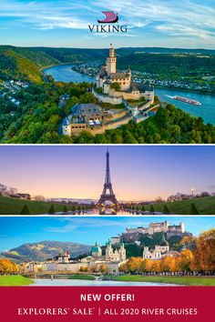 The world's leading river cruise line. Vacation Destinations, Vacation Trips, Vacation Spots, Vacations, Cruise Specials, Places To Travel, Places To See, Paris Airport, Viking River